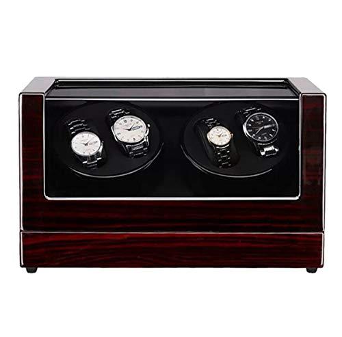 BYCDD 自動ワインダーを見る、静かなモーター木製ウォッチワインダーボックス腕時計、バッテリ駆動またはACアダプター腕時計収納ディスプレイケースボックス,Sandalwood A_34x18x20CM