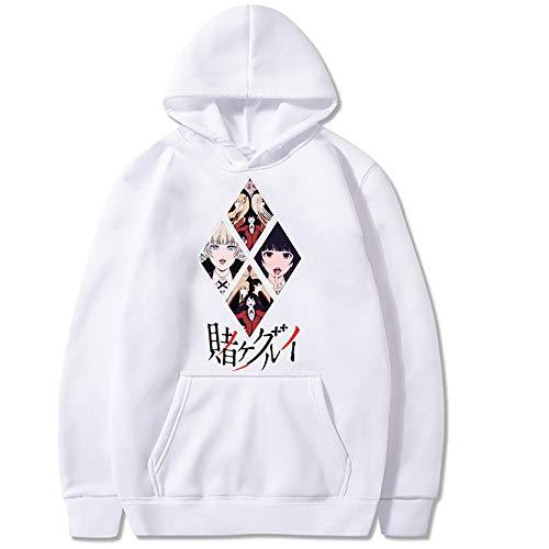 Lantingxu Kakegurui Sudadera con Capucha Runa Cosplay Disfraz Unisex Anime Impreso Moda Deporte Tops con Capucha