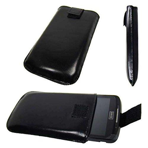 caseroxx Classic Etui Handy-Tasche für Base Lutea 2 aus Kunstleder, Handy-Hülle in schwarz