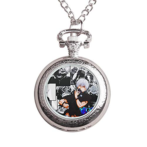 Yuri on Ice Geldbörsen wasserdichte Geschenk-Uhr-kreative Persönlichkeit Halskette Uhr Kinder Stattliche Flip-Taschen-Uhr for Jungen und Mädchen Unisex (Color : A02, Size : OneSize)