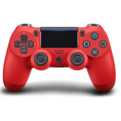 PS4 Wireless Controller,Game Controller Joystick with 950 mAh Battery/Vibration Turbo/Built-in Speaker/USB Cable/Mini LED Indicator for Playstation 4 Console (Red)