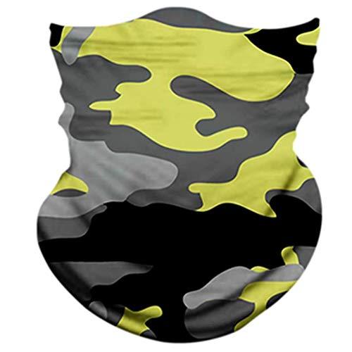 Yowablo Reitschal 3PC Unisex Seamless Bandana Rave Stirnband Schal Headwrap Neckwarmer (3 PCS,1K)