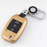 JHSOP 車のキーカバーケースホルダー、Kia Ceed Rio Sportage R K3 K4 K5 Ceed Sorento Cerato Optima 2015 2016 2017 2018 Keychain