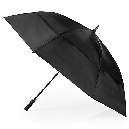 totes Automatic Open Windproof & Water-Resistant Golf Umbrella, Bright Dots