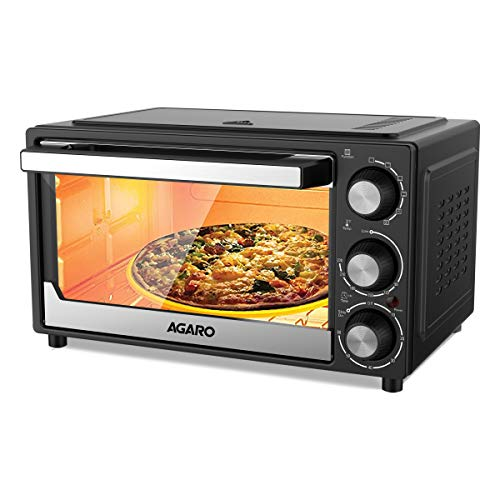 AGARO - 33393 Grand 30-Litre Oven Toaster Grill with 5 Heating Modes, Moterised Rotisserie & Convection Function