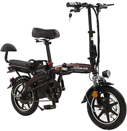 48v Electric Folding Bike for Men and Women,with 350W Motor,14-inch Electric Bike for Adults,Three Riding Modes