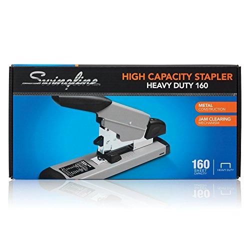 "Swingline Heavy Duty Stapler, 160 Sheet High Capacity, Durable Office Desk Staplers, Black/Gray & Staples, Heavy Duty, 1/2"" Length, 90 Sheet Capacity, 100/Strip, 1000/Box, 1 Pack, Silver Photo #3"