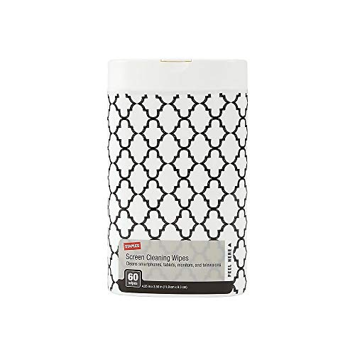 STAPLES 193675 Decorative Screen Cleaning Wipes Lattice (24737)