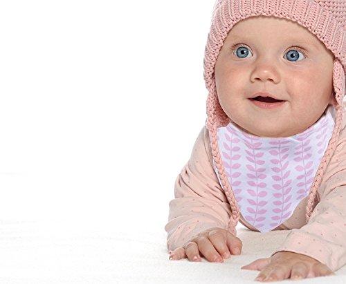 Baby-Lätzchen für Mädchen, 4er Pack Auslaufsichere Babylätzchen, Süße Lätzchen aus Weicher, Saugfähiger Baumwolle und Wasserundurchlässiger Auskleidung, Halten Sie Ihr Baby trocken - 8