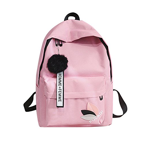 "Backpack for girls, Stylish College Bags Student School Backpack Laptop Backpack Bookbag Daypack (11''(L)15''(H)5.11""(W), Pink)"