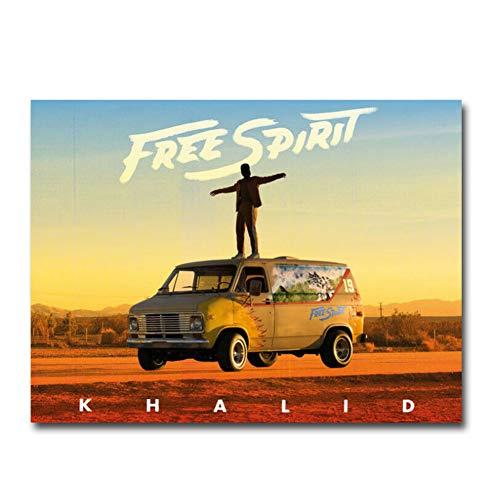 Carteles e Impresiones Free Spirit Story de Khalid Emil Nava The Movie Art Poster Canvas Painting Home Decor-50x70cm Sin Marco