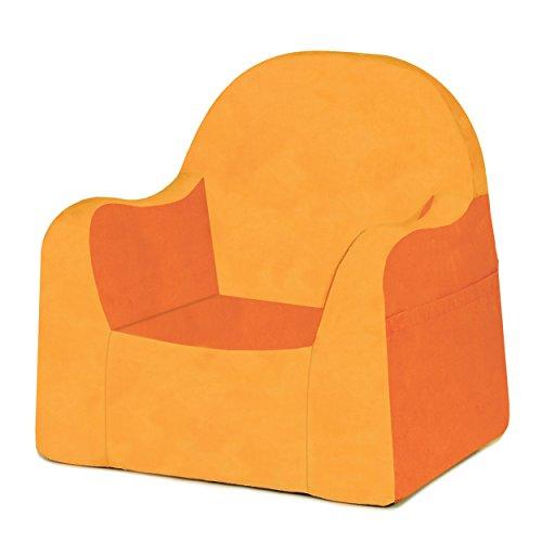 P'kolino Little Reader, Sillón liviano y cómodo para el pequeño niño lector sillita para bebes con forro de microfibra resistente, Naranja (Orange)