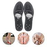 Semelles MagnéTiques, Semelles de Chaussures D'Acupression D'Aimant Santé Semelles de Massage de ThéRapie MagnéTique Chaussures Pour des Coussin de Soin des Forme Pour Hommes Femmes Noir 1 Paire