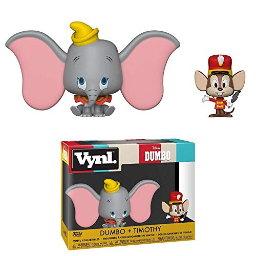2 Bonecos Disney Dumbo e Timothy Vynl Funko SUIKA ( ☞◔ ౪◔)☞