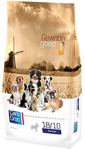 3 KG Carocroc senior silver 18/10 hondenvoer