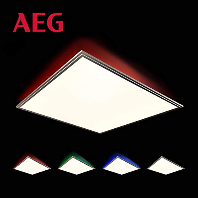 AEG Markos Deckenaufbau-Paneel 60x60cm RGB, Metall, Kunststoff, 42 W, nickel eloxiert wei