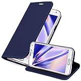 Cadorabo Funda Libro para Samsung Galaxy S5 / S5 Neo en Classy Azul Oscuro - Cubierta Proteccíon con Cierre Magnético, Tarjetero y Función de Suporte - Etui Case Cover Carcasa