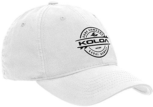 Koloa Surf Thruster Logo Classic Cotton Dad Hat-White/Black