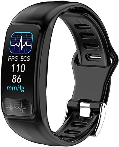 QHG Bluetooth Pulsera Inteligente Presión Arterial Monitor de Ritmo cardíaco Actividad Deportiva Fitness Tracker Electronics SmartBand (Color : Black)