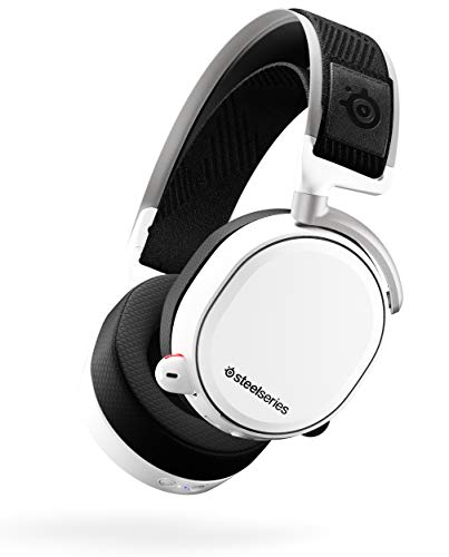 SteelSeries Arctis Pro Wireless Gaming Headset - Lossless High Fidelity Wireless + Bluetooth for PS5/PS4 and PC - White
