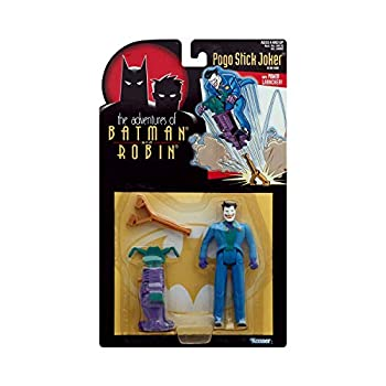 Year 1995 The Adventures of Batman and Robin 5 Inch Tall Action Figure - Pogo Stick Joker with Power Launcher
