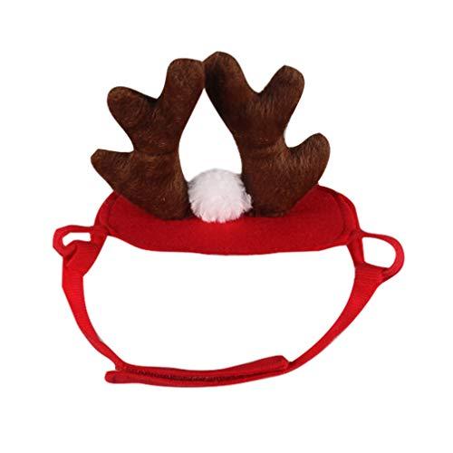 Amosfun Hund elch geweih Rentier Hut Kopfbedeckung Stirnband Kappe Hund Katze Haustier weihnachtskostüm Ausstattungen haarpflege zubehör