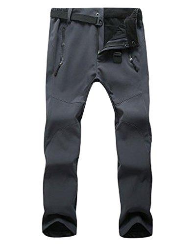 ZongSen Grande Taille Homme Femme Pantalon de Ski Épaississement Coupe-Vent Imperméable Résistant à l'usure Outdoor Camping Randonnée Trekking Pantalons Gris Femmes M