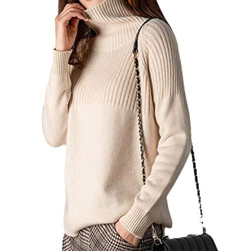 CPAZT Tailor Sweater lange mouwen, dikke vrouwenpullover los, overgrote, warme bovenstukken met rolkraag