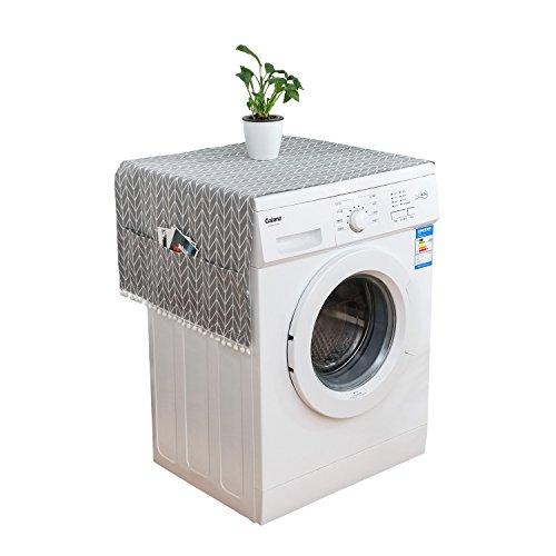 ZF Koelkast Stofdichte Cover Multi-Purpose Wasmachine Top Cover met 6 Koelkast Opslag Organizer Tassen