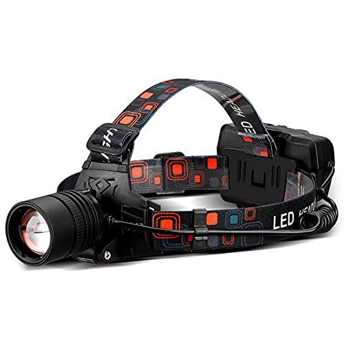 Swinmlad Linterna frontal LED recargable Zoom Camping Running Headlamp-USB