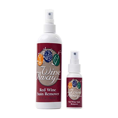 Wine Away Red Wine Stain Remover - Perfect Fabric Upholstery and Carpet Cleaner Spray Solution - Removes Wine Spots - Spray and Wash Laundry to Vanish Stain - Wine Out - Zero Odor - 12 Ounce + 2 Ounce