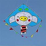 fdxcf Original de la cometa, cometas Kite Kids para niños fácil de volar con deportes al aire libre Mono Cerdo cometa fácil de volar Plm46,blue cerdo