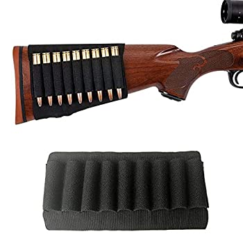 ACEXIER Tactical 9 Rounds Shells Holder Cartridges Ammo Carrier Bullet Pouch for MP 512-36 Elastic Butt Stock Hunting Rifle Accessories