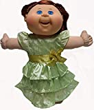 Doll Clothes Superstore Lime Ruffle Dress Fits Preemie Cabbage Patch Kid Dolls