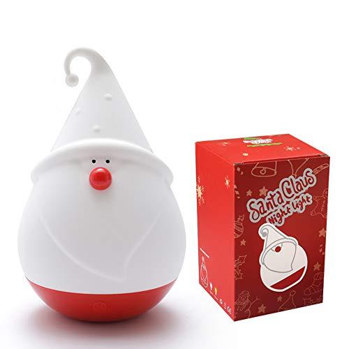 Nachtlicht Kind Nachtlicht Baby Silikon Weihnachtsmann Touch Lampe für Babyzimmer, Schlafzimmer, Wohnräume, Camping, Picknick Warmes Weißes Licht