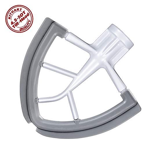4.5-5 QT Flex Edge Beater for KitchenAid Mixer 4.5-5 Quart Tilt-Lift Stand Mixer, KITOART Original Beater with Silicone Edge, Perfect 4.5-5 QT Tilt Head Stand Mixer Attachment, Mixer Accessory