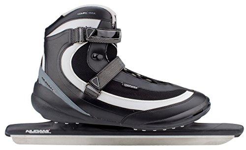 Nijdam Erwachsene Eisschnelllaufschlittschuhe Pro Line, Schwarz/Silber, 41