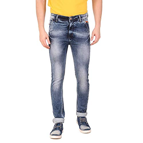Dustin Men's Regular Stretchable Fabric Jeans Relaxed Denim Jeans