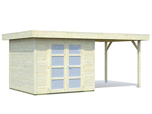 Palmako Gartenhaus Palmako Lara 1 mit Unterstand 5,9 m² - Lara 6,0+5,9 m²