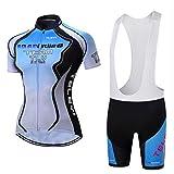 Gnaixyc Conjunto Ropa Equipacion Mujer, Ciclismo Maillot Y Culotte Pantalones Cortos, Team Pro Cycling Jersey, para Deportes Al Aire Libre Ciclo Bicicleta,B,XXXL