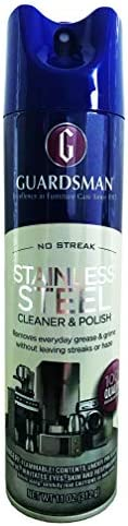 Guardsman Stainless Steel Cleaner Polish Protects Appliances from Streaks Haze 11 Oz Can 473000 product image