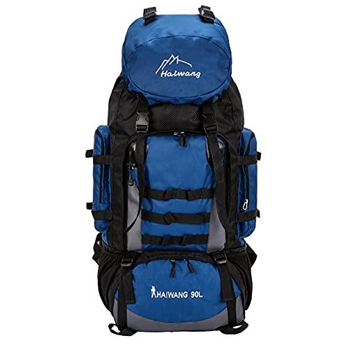 ZSDFW Mochila de senderismo, ligera, plegable, impermeable, para camping, camping, senderismo, viajes, exteriores, color azul oscuro
