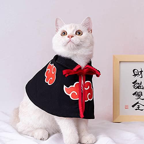 Costume Naruto Akatsuki pour chien - Cape de cosplay pour chiot, chat, Halloween