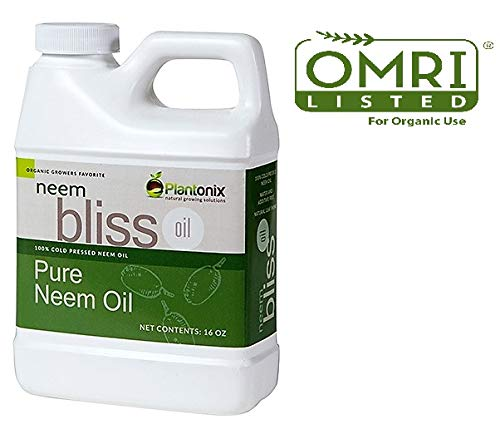 Organic Neem OIl 100% Pure Cold Pressed – (16 oz) – OMRI Listed for Organic Use