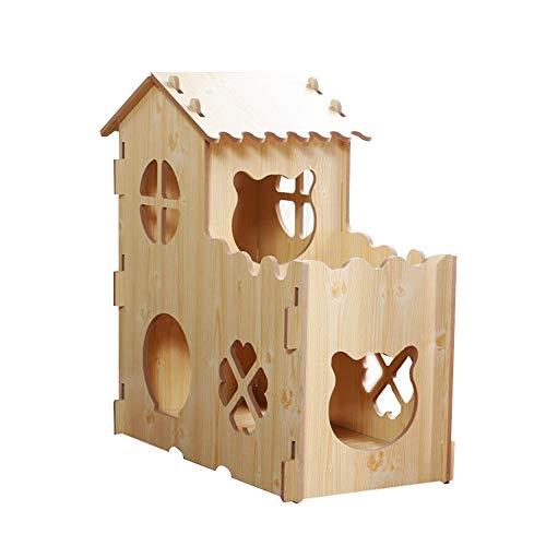 Kratzbaum-Turm Umweltfreundlich und ungiftig Baum Cave Cat House Super-Large Scale Ständer Cat Möbel Kätzchen und Katzen Activity Center und Spielhaus Kratzmöbel ( Color : Brown , Size : Free size )