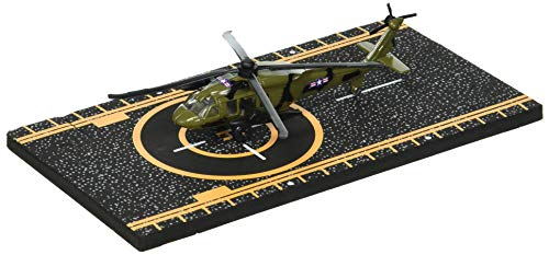 Hot Wings Black Hawk Helicopter with Connectible Runway Die Cast Plane