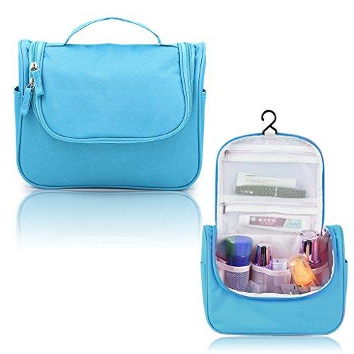 Hipiwe Appendere Beauty Case da Viaggio Borsa da Toilette Impiccagione Outdoor Pratico Cosmetici Borsa da Viaggio per Accessori Bagno (Blu)
