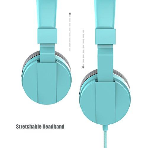 On Ear Headphones, Marvotek Stereo Headphones for Girls Wired Headphones with Mic Foldable Headphones Lightweight Headphones for Kids Photo #6