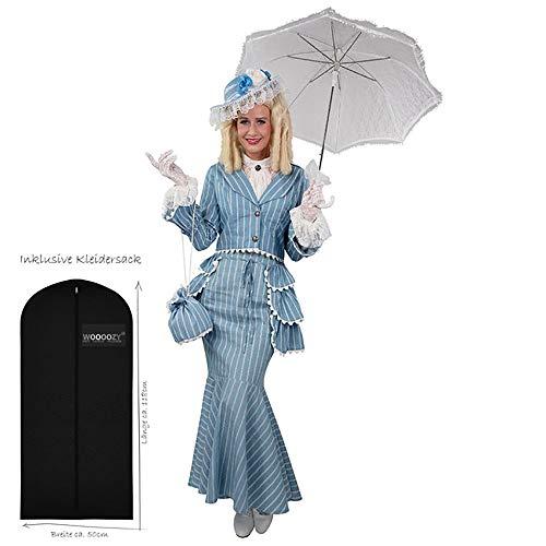WOOOOZY Damen-Kostüm Biedermeier Deluxe, Gr. 40-42 - inklusive praktischem Kleidersack