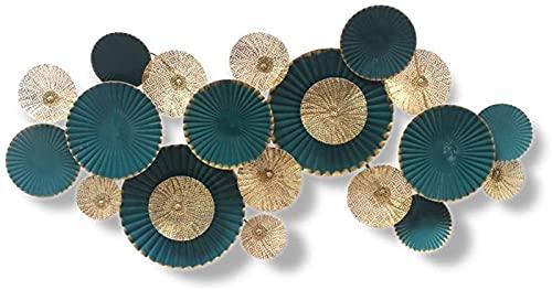 LLC- SUDA Arte de Pared de Metal, Arte de la Pared de Metal, geometría montada en la Pared Resumen Tridimensional Decor Decor Hollowing Oro Foil Proceso Anti-ROX